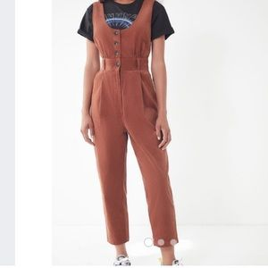 Urban outfitters corduroy brown jumpsuit size 2